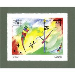 """Kandinsky """"Clock of Destiny"""" - color lithograph#2360209"""