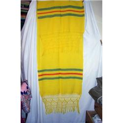Vintage Mexican Hand Woven Wool Shawl #2360215