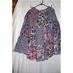 Vintage Calico Western Broomstick Skirt #2360219