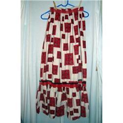 Vintage Muslin Bandana Printed Long Skirt #2360222