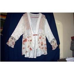 Vintage Old Fashioned Lace Silk  Top #2360224