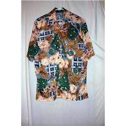 Vintage Disco Flowered Short Sleeve Shirt #2360225