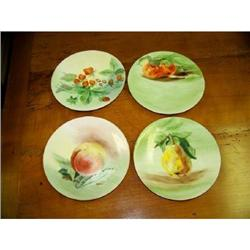 4 Hand Painted Fruit Plates #2360232