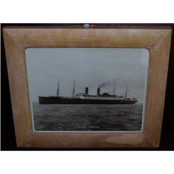 Antique photograph in vellum frame of the USS #2379613