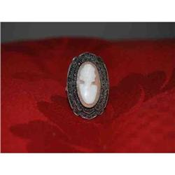 Sterling Silver Cameo Ring #2379614