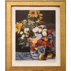 Fleurs Dans Un Vase Pierre-Auguste Renoir Print#2379624