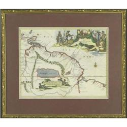 Antique map Guiana Amazon Blaeu 1671 america #2379631