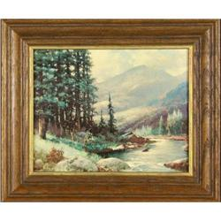 Print landscape, entitled ?Mountain River #2379635