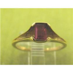 14K Yellow Gold Rect Cut 0.5 Carat Ruby Sz 5.5 #2379642
