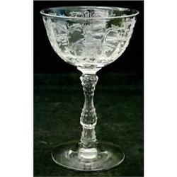"Lot  Fostoria ""Navarre Clear"" crystal stemware #2379645"