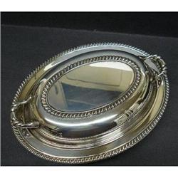 SILVER OVAL SERVING DISH&LID #2379650