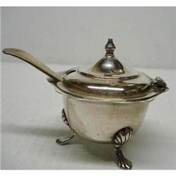 TINY ANTIQUE STERLING CONDIMENT DISH #2379653