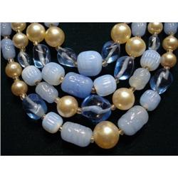 ART GLASS 4 STRAND NECKLACE*Shades of Blue #2379658