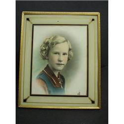 ORIGINAL REVERSE PAINTED ART DECO  FRAME #10 #2379673