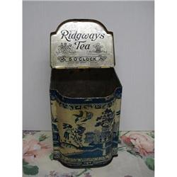 RIDGWAYS TEA TIN - 5 O'CLOCK - BLUE WILLOW #2379678
