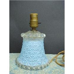 20's DECO PRESSED GLASS BOUDOIR LAMP #2379687