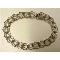 40's Sterling Silver Charm BRACELET #2379689