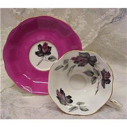Royal Albert Cup & Saucer BLACK ROSE #2379696