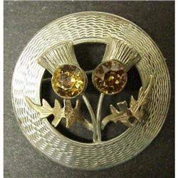 STERLING CELTIC SCOTTISH BROOCH PIN #2379702