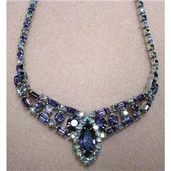 LOVELY PURPLE RHINESTONE NECKLACE #2379706