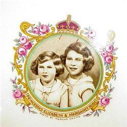 Princesses Elizabeth&Margaret Rose PLATE #2379716