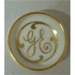 TINY LIMOGES OPEN SALT DISH MONOGRAM GE #2379727