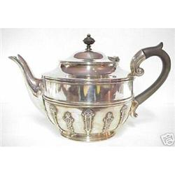 OLD ENGLISH SILVER TEA POT - DECO STYLE #2379736
