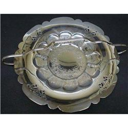 VICTORIAN  SILVER PLATED FRUIT  DISH #2379739