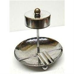 LOVELY ART DECO CHROME ASHTRAY #2379744