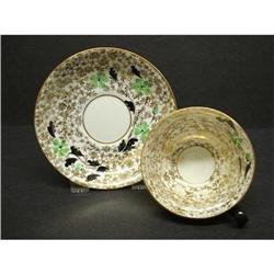 PHOENIX CHINA Cup & Saucer - GOLD CHINTZ #2379752