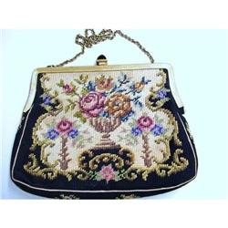 LOVELY ANTIQUE PETIT POINT PURSE/Handbag #2379755