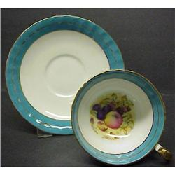 Aynsley  CUP & SAUCER Signed  #2379764
