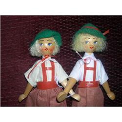 Pair of Polish Wooden Dolls #2379784