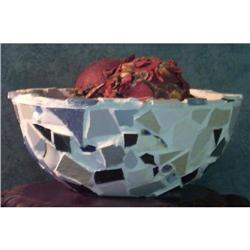 SALE Hand Made Broken Porcelain and Tile Bowl #2379814