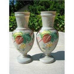 Matching Pair of Victorian Bristol Glass Vases #2379818