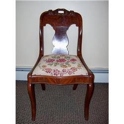 Victorian Side Chair with Floral Seat #2379824