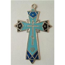 ANTIQUE RUSSIAN ENAMELED SILVER CROSS #2379828