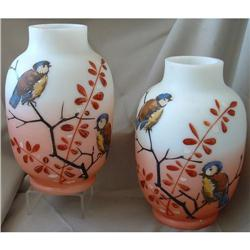 ANTIQUE  BRISTOL ENAMELED GLASS VASES #2379832