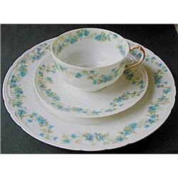 Limoges Field Antique Tea Trio Blue Haviland #2379864