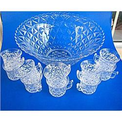 Imperial Punch Set Mt.Vernon Glass 11 Piece #2379866