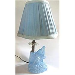 Lamp Boudoir Art Deco Figural Ballerinas Blue #2379867
