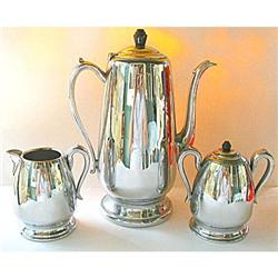 Coffee Set Chrome Stainless Steel Bakelite #2379874