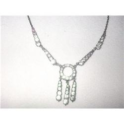 Art Deco Sterling Silver & Diamante  Lavaliere #2379877