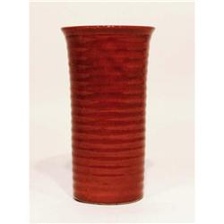 Orange Pottery Ringware Vase Circa 1950's #2379881
