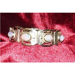 Mexican Silver Bracelet w/colored Stones 925 #2379885