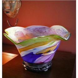 Original Hand blown Sculptural Art Glass Polish#2379886
