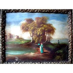 "Beautiful French Oil Painting, ""Woman and the #2379892"