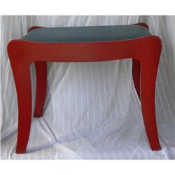 Gracefully Curved Antq Art Deco Walnut Bench St#2379897