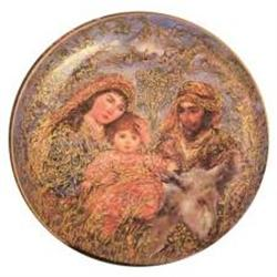 Flight Into Egypt  porcelain plate Christmas #2379902
