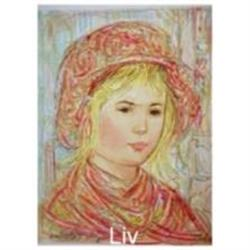 Liv serigraph by Edna Hibel large #2379916